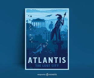 Design do pôster Atlantis