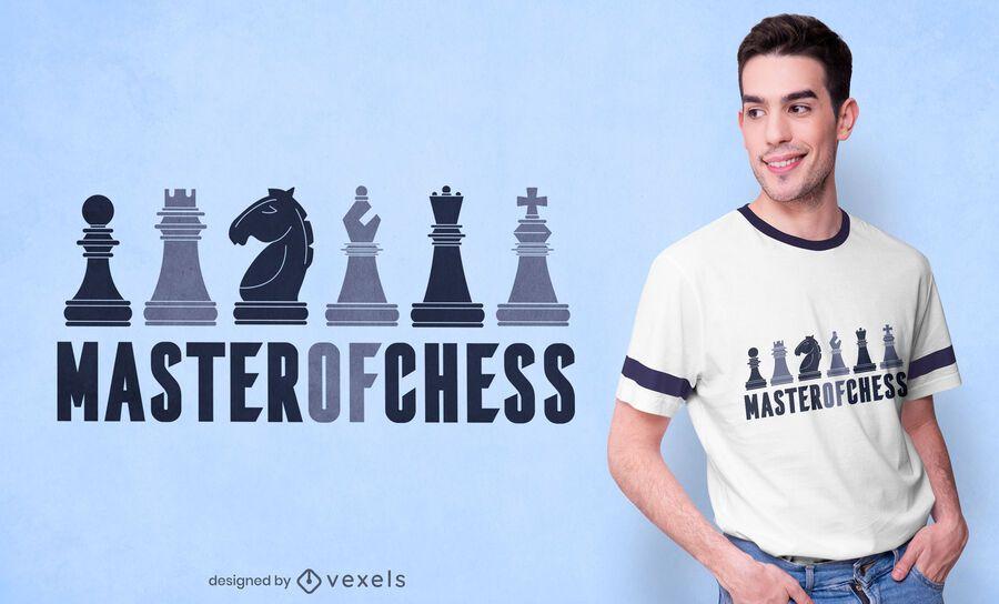 Mestre em design de camisetas de xadrez