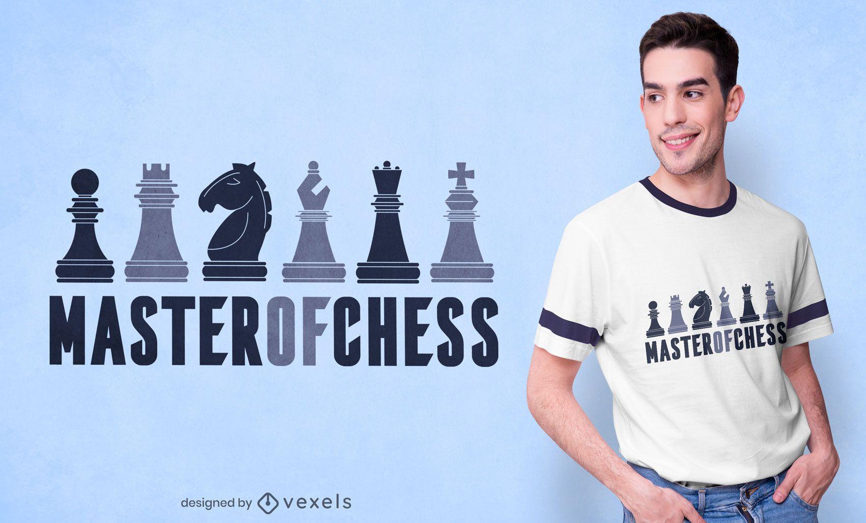 Maestro de diseño de camiseta de ajedrez