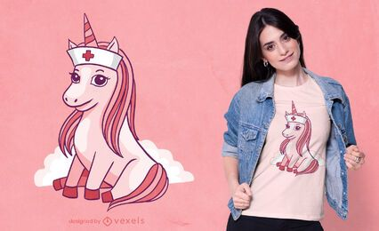 Nurse unicorn t-shirt design