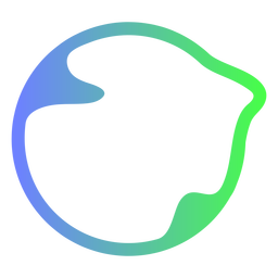 Abstract blue and green circle logo