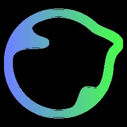 Logotipo de círculo azul y verde abstracto