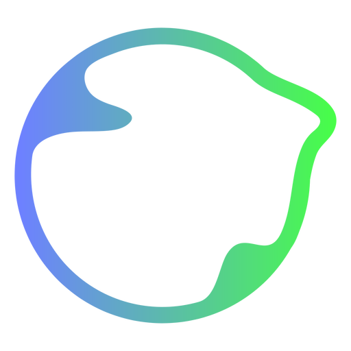Abstract blue and green circle logo Transparent PNG