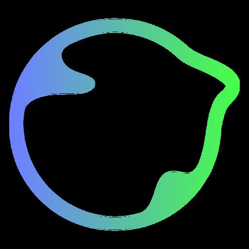 Logotipo de c?rculo azul y verde abstracto