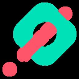 Logotipo abstrato de ponto de exclamação