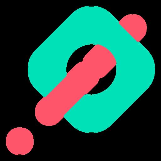 Logotipo abstrato de ponto de exclamação Transparent PNG
