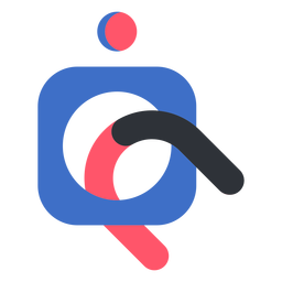 Abstract magnet logo