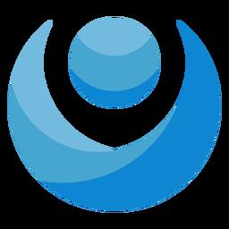 Logotipo azul da pessoa abstrata