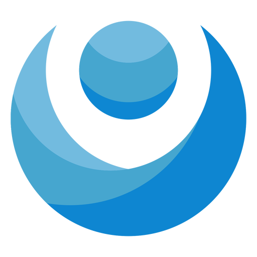 Abstract person blue logo