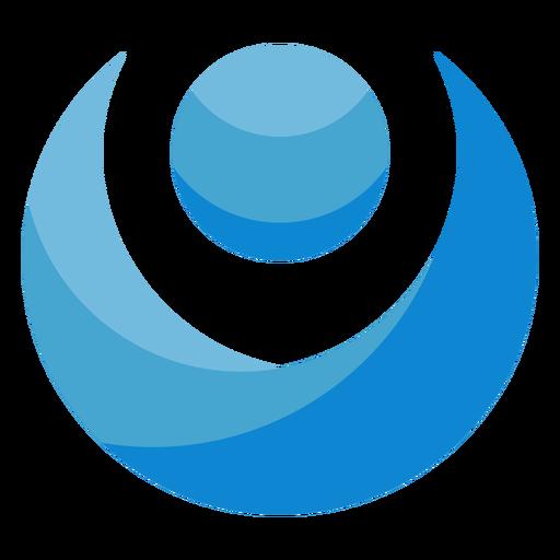 Logotipo de persona abstracta azul