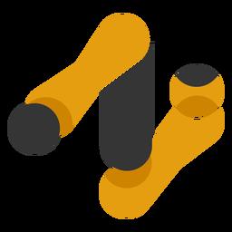 Logotipo abstracto del brazo robótico