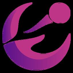 Abstraktes gewelltes violettes Logo