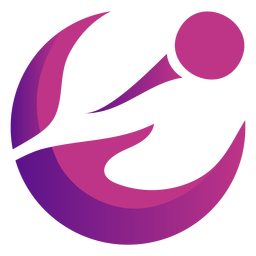 Logotipo violeta ondulado abstrato