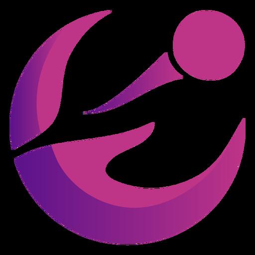 Logotipo violeta ondulado abstracto Transparent PNG