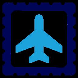 Flugzeug auf Stempel Logo