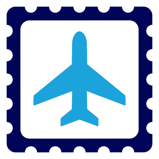 Airplane on stamp logo Transparent PNG