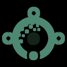 Logotipo de ojo alienígena