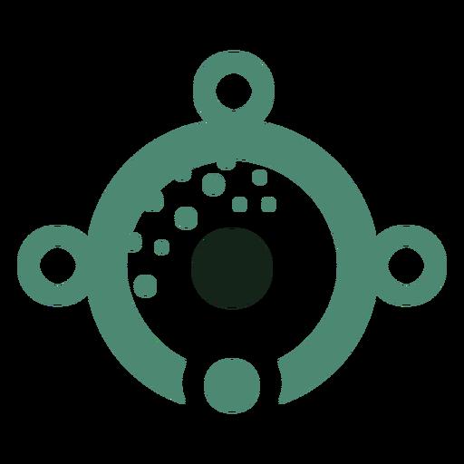 Alien eye logo Transparent PNG