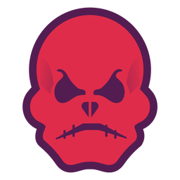 Angry red skull logo