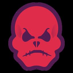 Logo de calavera roja enojada