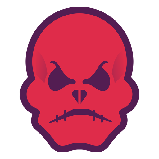 Angry red skull logo Transparent PNG