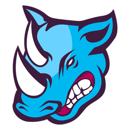 Logotipo de rinoceronte enojado