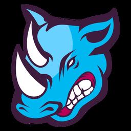 Logotipo do rinoceronte irritado