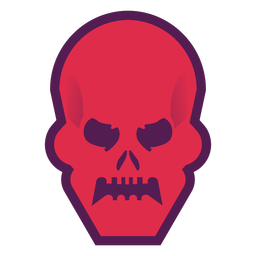 Logotipo de calavera enojada