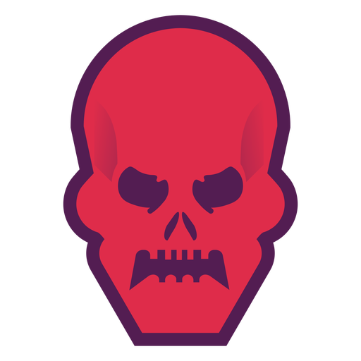 Angry skull logo Transparent PNG