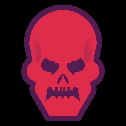 Logotipo de calavera enojada Transparent PNG