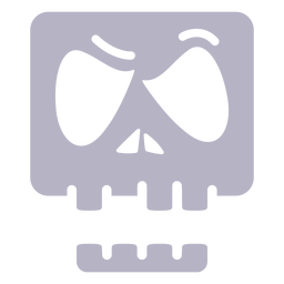 Angry skull silhouette logo