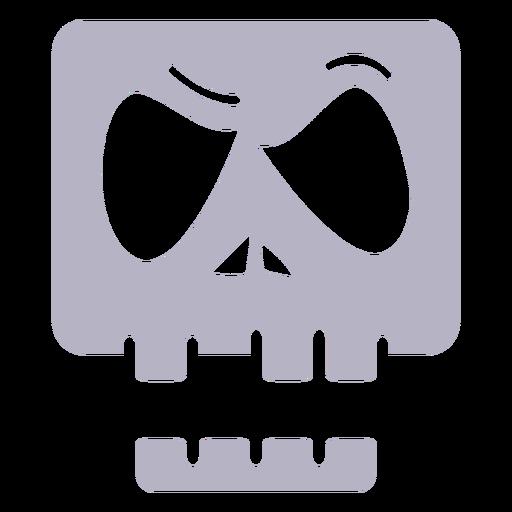 Logotipo de silueta de calavera enojada