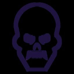 Logotipo de trazo de cráneo enojado