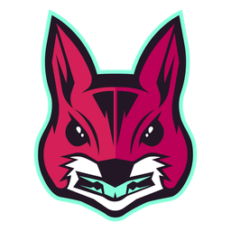 Logotipo do esquilo irritado
