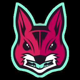 Wütendes Eichhörnchen-Logo
