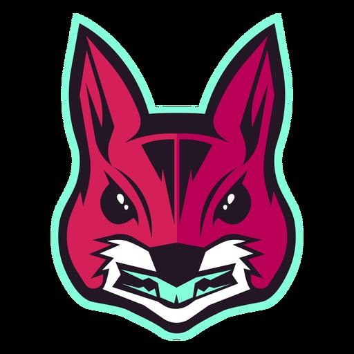 Logotipo de ardilla enojada
