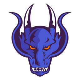 Angry violet demon logo