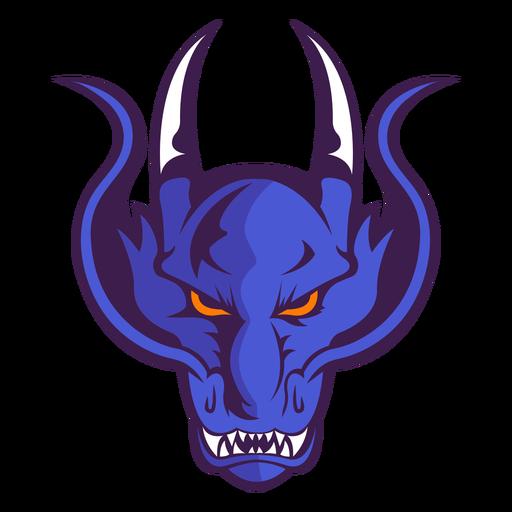 Wütendes violettes Dämonenlogo