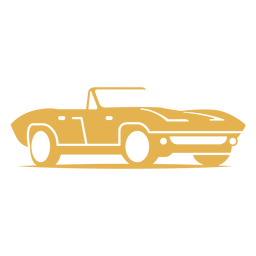 Antique sports car logo