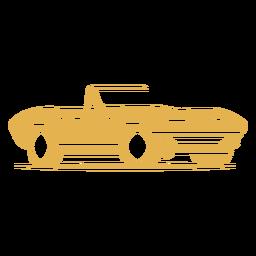 Logotipo de coche deportivo antiguo