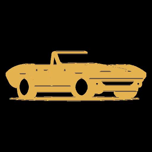 Antique sports car logo Transparent PNG