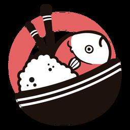 Logotipo de prato asiático