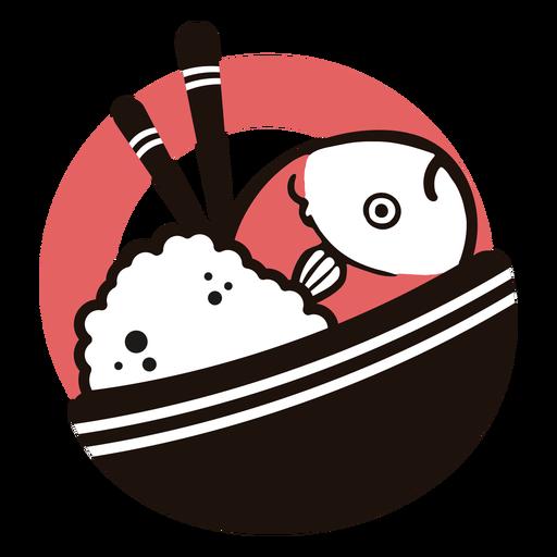 Logotipo de plato asiático Transparent PNG