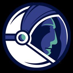 Astronaut helmet logo
