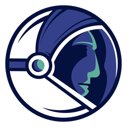 Logotipo del casco de astronauta