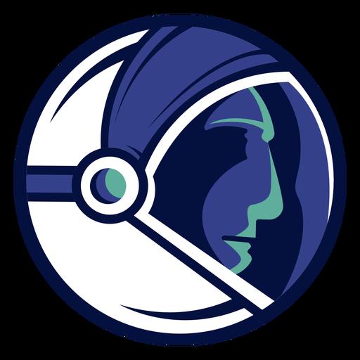 Logotipo do capacete de astronauta
