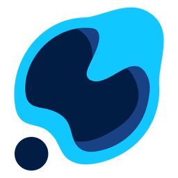 Blaues abstraktes modernes Logo