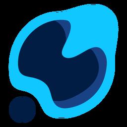 Logotipo moderno abstracto azul