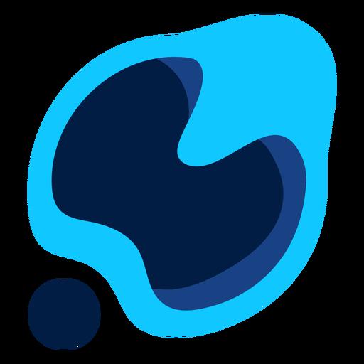 Blue abstract modern logo Transparent PNG
