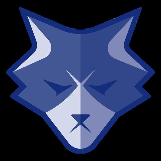 Logotipo de lobo enojado azul